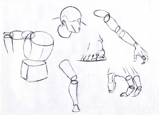 Blocks and shapes for body parts