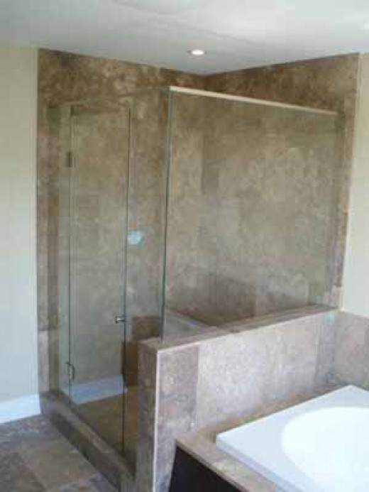 Frameless shower doors will give your bathroom a modern look.