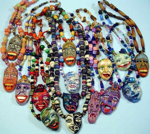 various tiki necklaces