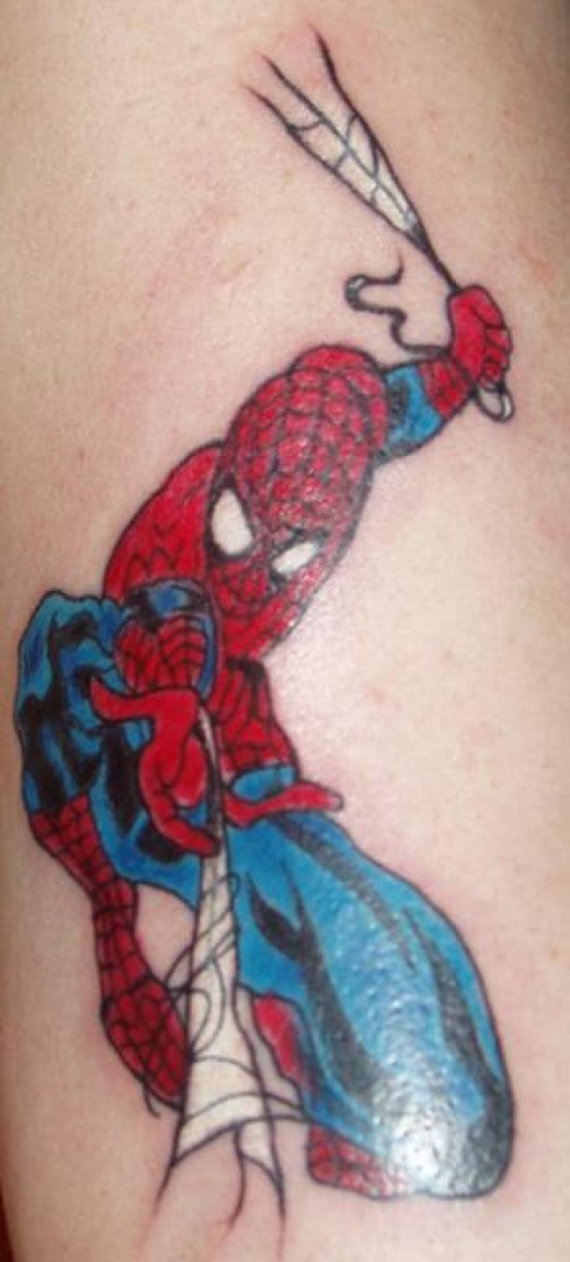 Lovin this spiderman tattoo and I think I cud be related to spiderman.