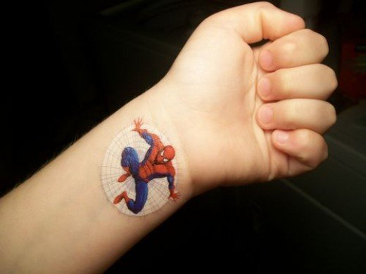 temporary stick on tattoo
