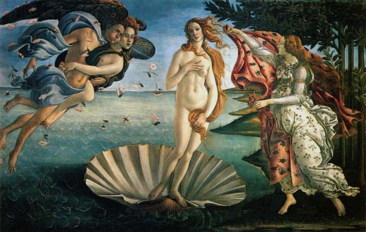 Birth of Venus photo from: http://www.arthistoryarchive.com/arthistory/greekroman/images/SandroBotticelli-The-Birth-of-Venus-1490.jpg