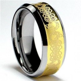 8MM 18K Gold Plated Tungsten Ring with Laser Etched Celtic Design (check out Amazon items below)
