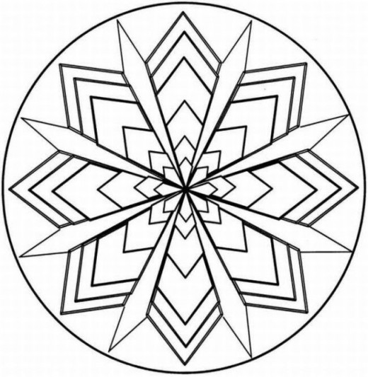 kaleidoscope designs free coloring pages - photo#16