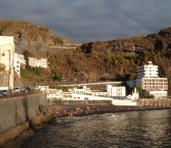 Playa de San Marcos is a popular black sand beach
