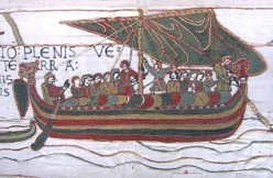 Bayeux tapestry : Crossing the Channel