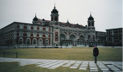 A starting point. Ellis Island, New York, where many Americans can trace their families back to Europe.