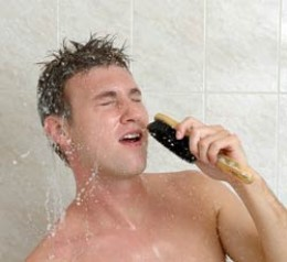 Don't sing in the gym shower - do this at home, if you must!