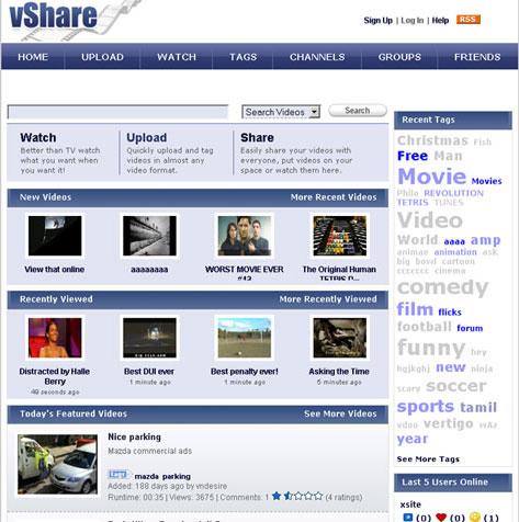vShare Youtube clone script from http://www.vshare.in