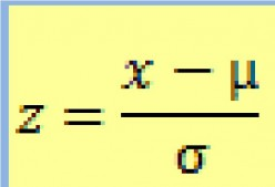 Formula for calculation of z score