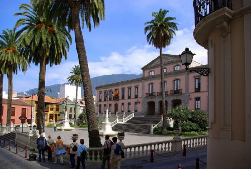 View of the square in La Orotava
