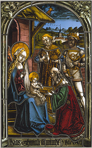 This art is typical of South Germany and was also created in Strassurger, Werkstattgemeinschaft in 1507.