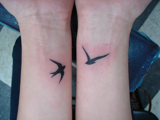 Gotta say though this lil double swallow wrist tattoos look great,