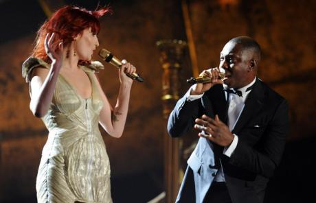 Performing at the Brits