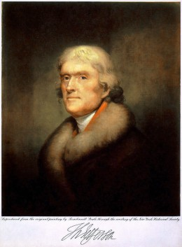 Thomas Jefferson was the son of Welsh immigrant parents and proud of his Welsh heritage. (Picture is public domain)