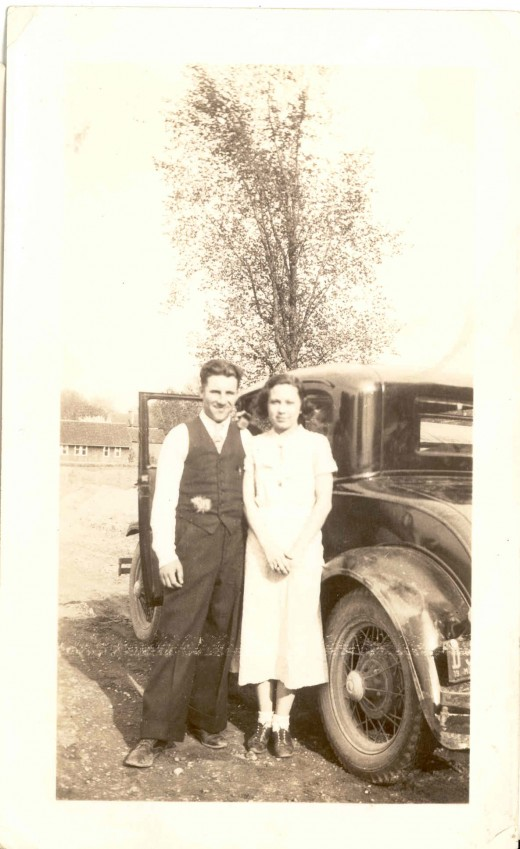 I believe my parents had a typical 1930's wedding similar to this old photo.