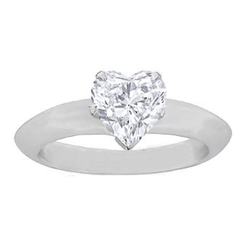Heart Shaped Diamond set on Ring