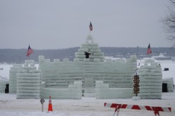Presidents Day Celebration Shows Ice Castle Images