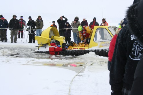 Hovercraft Water Rescue Demonstration