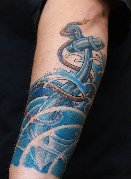 Sailor INspired Tattoo Sleeve Designs Source: