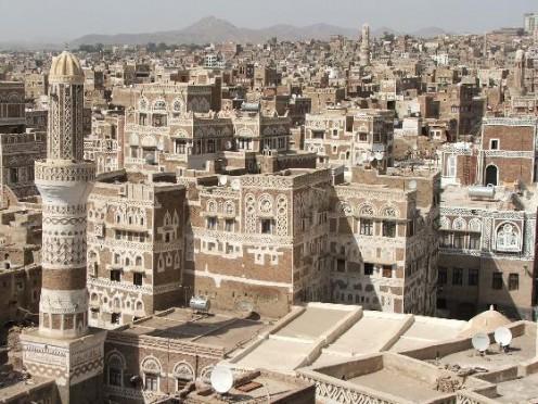 Sanaa, the capital city of Yemen.