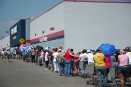 Line at Walmart