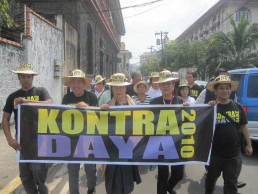 Kontra Daya calls for vigilance against massive electoral fraud and cheating on May elections. Kontra Daya Photo.