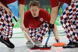 Norway's Curling team and their trademark 'crazy pants'