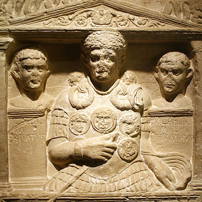 "Cenotaph of Marcus Caelius, who ""fell in the war of Varus"""