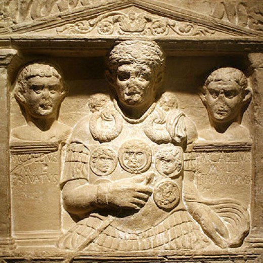 """Cenotaph of Marcus Caelius, who """"fell in the war of Varus"""""""
