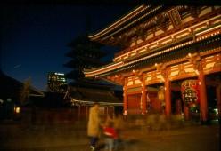 The Asakusa Kannon at night. Asakusa, Tokyo.