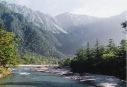 The Azusa River below Hotaka-dake, Kamikochi.