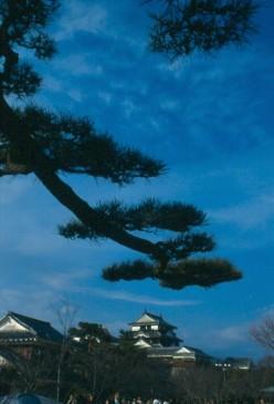 The Matsuyama Castle, Matsuyama, Shikoku island.