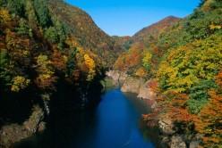 Scene near the Tanigawa Onsen, Gunma prefecture.