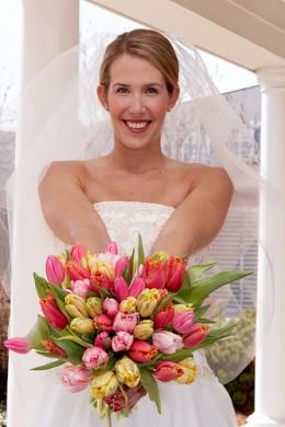 Spring brides love tulips.