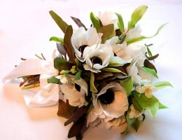 Anemones are popular for black and white weddings.