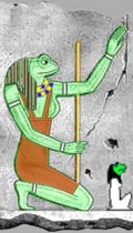 Heket the Egyptian Goddess, had the head of a frog.