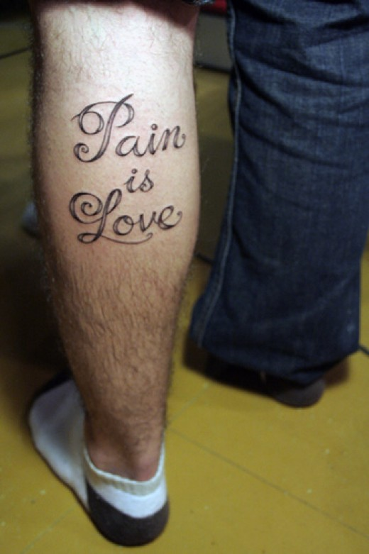 Word and Lettering Tattoo