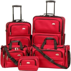 Samsonite luggage set - 5 piece nested with two wheeled luggages.