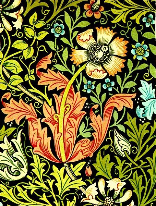 Morris, Borders and wallpaper