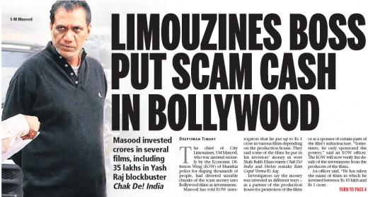 Mumbai Mirror front page 21 feb 2010
