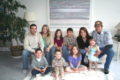 My beautiful family, my two sons and their wives and 6 grandkids - on my birthday 2009
