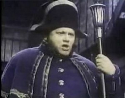 As Mr Bumble the beadle in the film Oliver