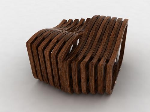Outdoor wooden chair