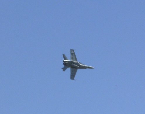 Ken in his F-18 when he opened for the Thunderbirds at McCord Air Force Base!