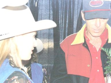 The second time I met Chris LeDoux, while I was on the Fair Court.        Photo Courtesy of and Copyrighted by Jack Honkala