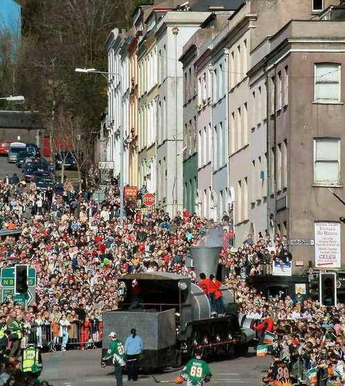 St. Patrick's Day parade in Cork, Ireland.