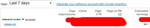 Adsense Earnings (Week 3)
