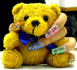 Burberry Nail Art by Poppo Factory