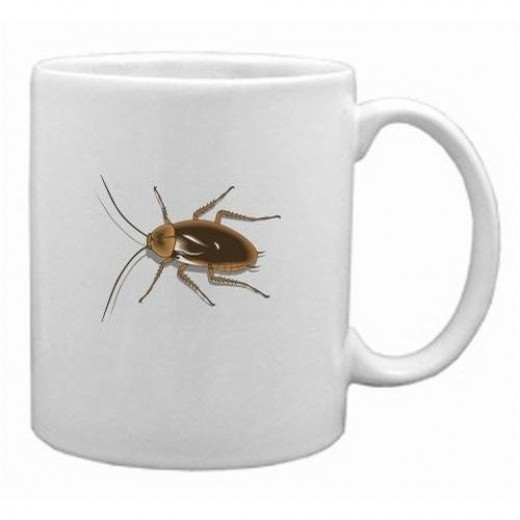 Cockroach Mug @ Amazon (check out the item below)